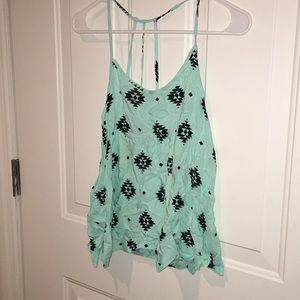 Aztec Turquoise and Black Top